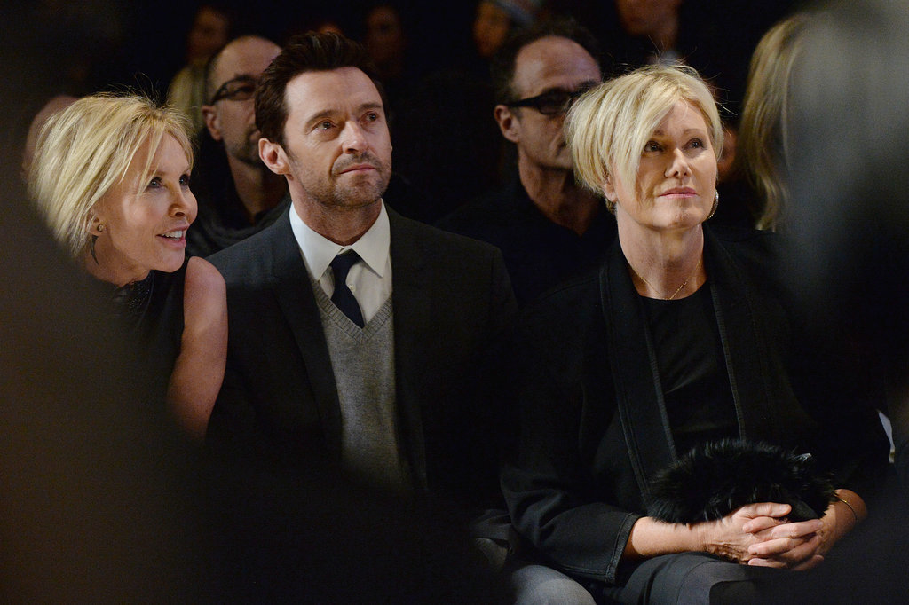 Hugh Jackman sat in the front row with his wife, Debora-Lee Furness, at Donna Karan's presentation.