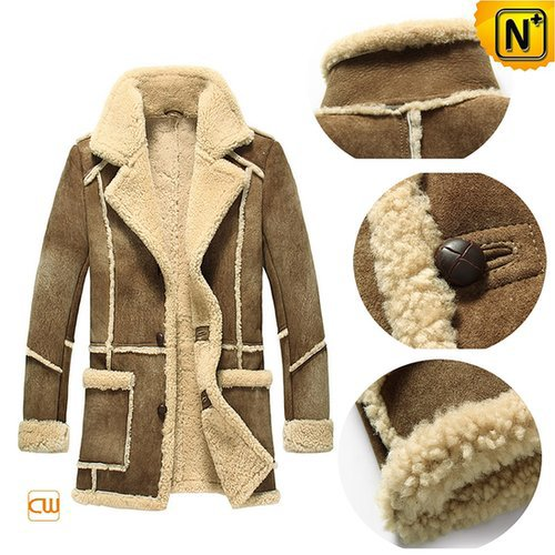 Leather Sheepskin Coat for Men CW878127