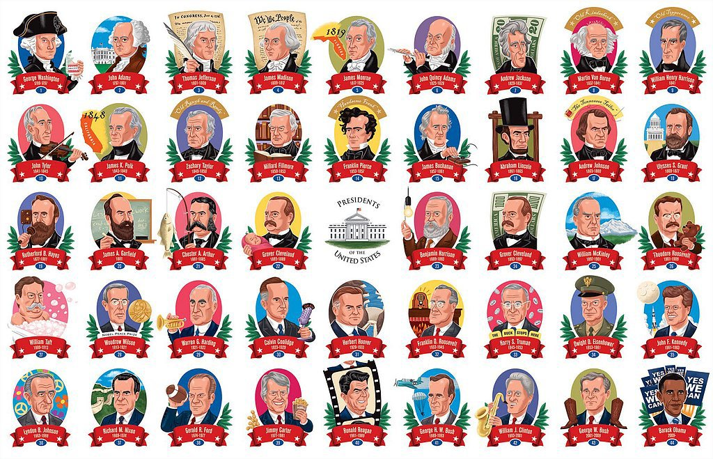 Great American Presidents Travel Pouch Puzzle : Prep For ...