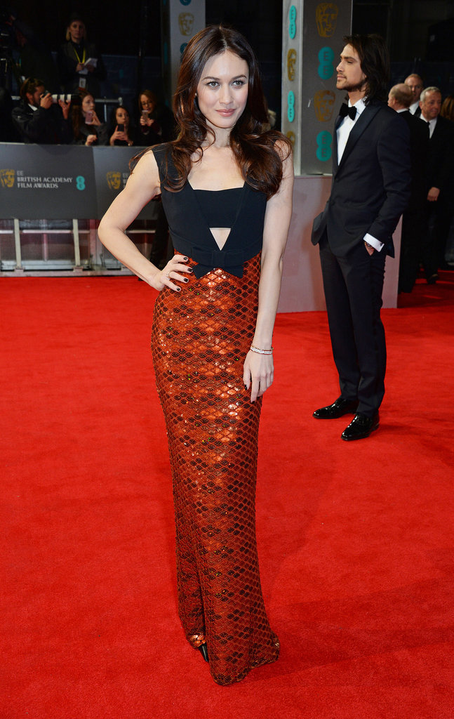 Olga Kurylenko on the 2014 BAFTA Red Carpet