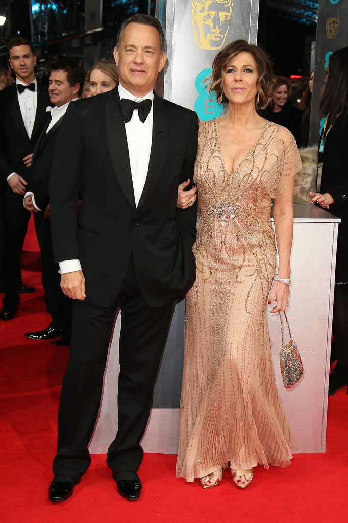 Tom Hanks and Rita Wilson at the 2014 BAFTA Awards.