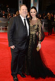 Harvey Weinstein and Georgina Chapman at the 2014 BAFTA Awards.