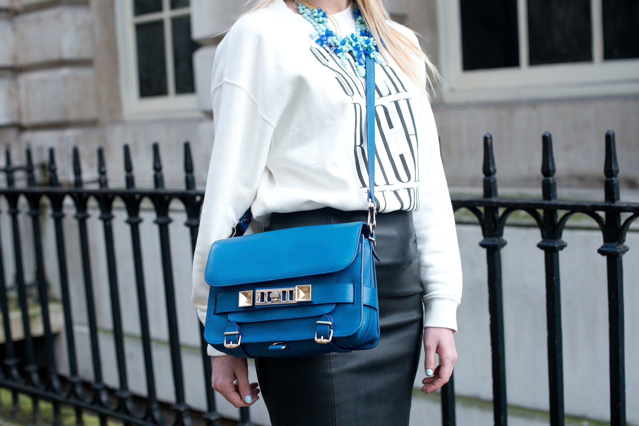 This little Proenza Schouler packs a big, bright blue punch.