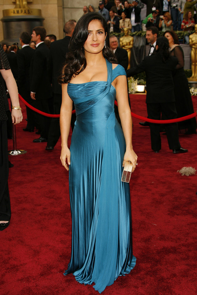 Salma Hayek in Versace at the Oscars