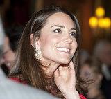 Kate showed off some fancy earrings.
