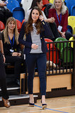 Kate Middleton in Striped Top and J Brand Jeans