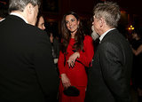 Kate Middleton met with actors during the event.