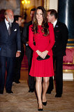 Kate Middleton in Red Dress