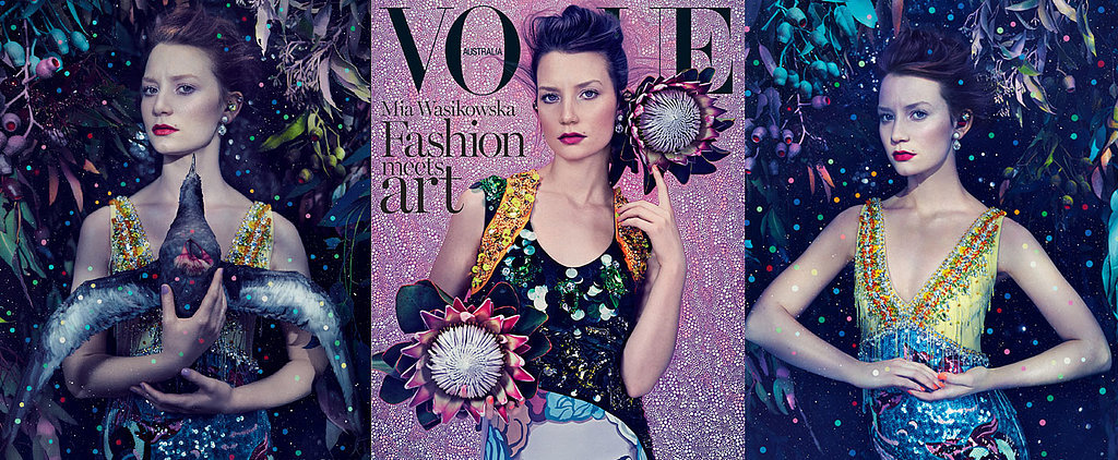 Get the Look: Mia Wasikowska's Whimsical Beauty Covers Vogue