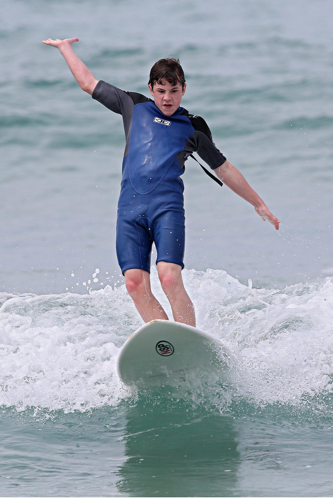 Nolan Gould went surfing at Bondi Beach on Feb  18 Nolan Gould Wrestling