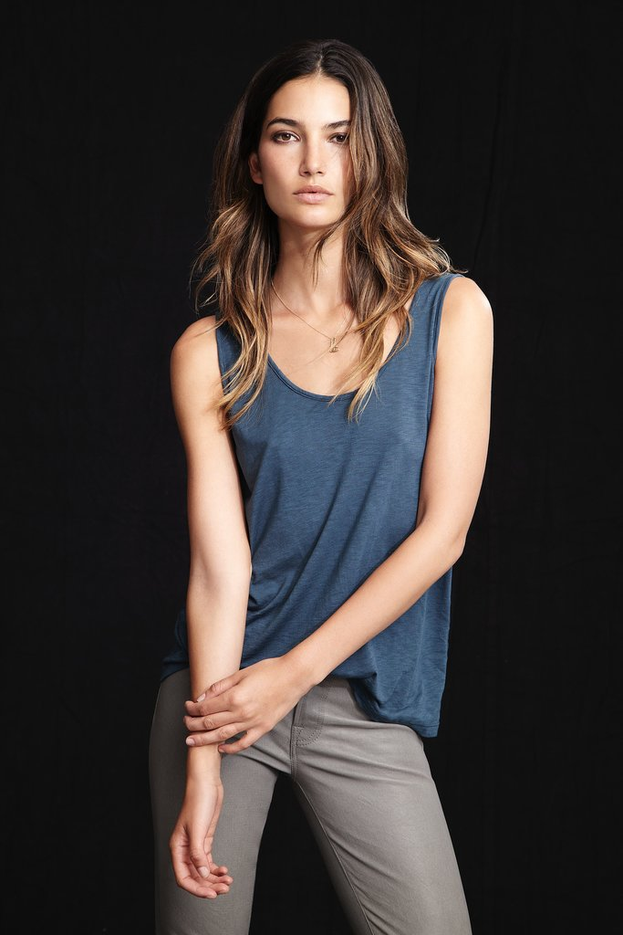Lily Aldridge For Velvet Violet Luxe Slub Tank ($59) Source: Courtesy of Velvet