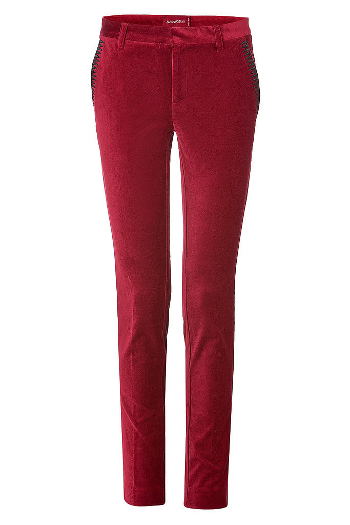 Zadig & Voltaire Red Velvet Pants ($206, originally $295)