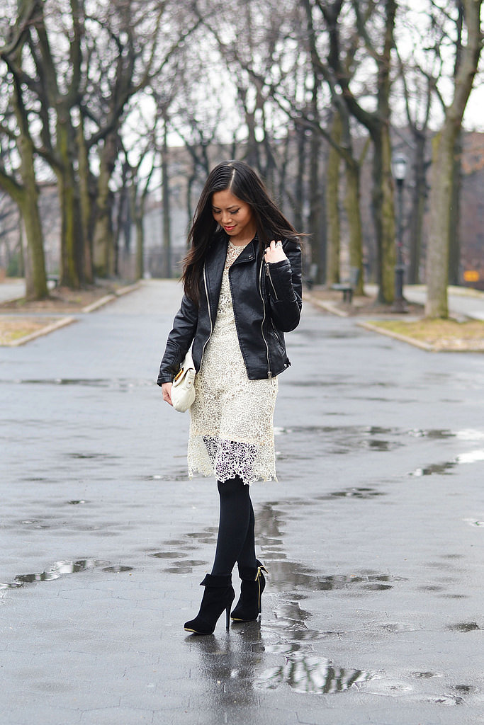 Congrats, StyleCueSuzieQ! Leather and lace make for a perfect pairing.