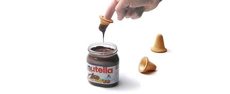 Cookie Thimbles Designed For Easy Nutella Dunking
