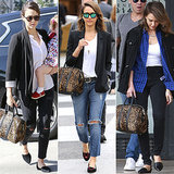 Jessica Alba Carrying A.L.C. Leopard Bag