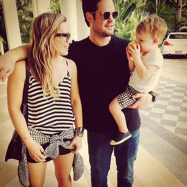 "Hilary Duff and her husband, Mike Comrie, who recently separated, still spent a ""#modernfamily"" Valentine's Day together with their son, Luca. Source: Instagram user hilaryduff"