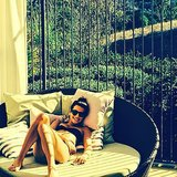 Lea Michele lounged in a bikini on vacation. Source: Instagram user msleamichele