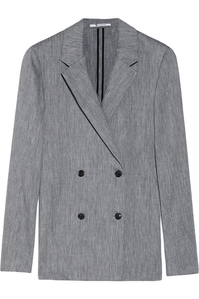 T by Alexander Wang Gray Herringbone Linen Blazer ($209, originally $465)