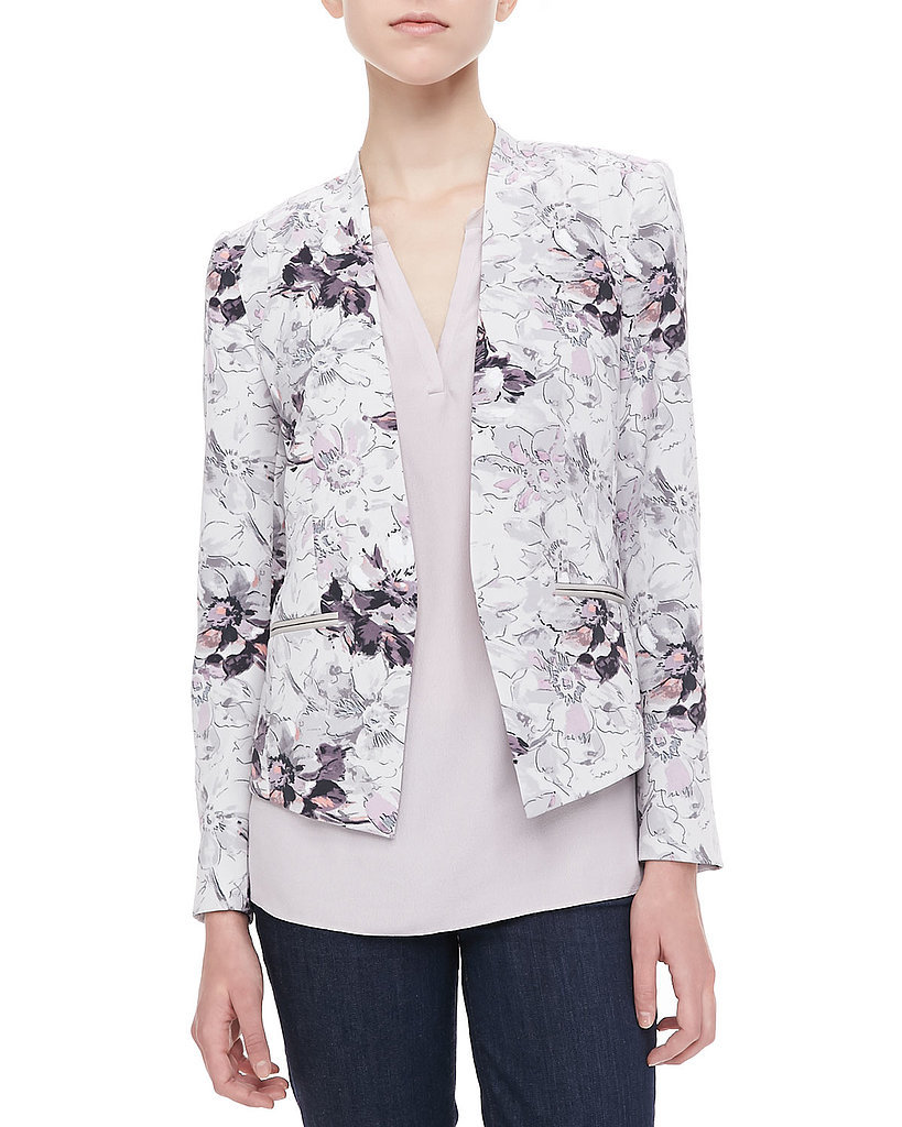 Style Tip: A bold hero jacket will instantly add interest to work basics.
