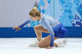 American favorite Gracie Gold took the ice, but found herself on it after a fall.