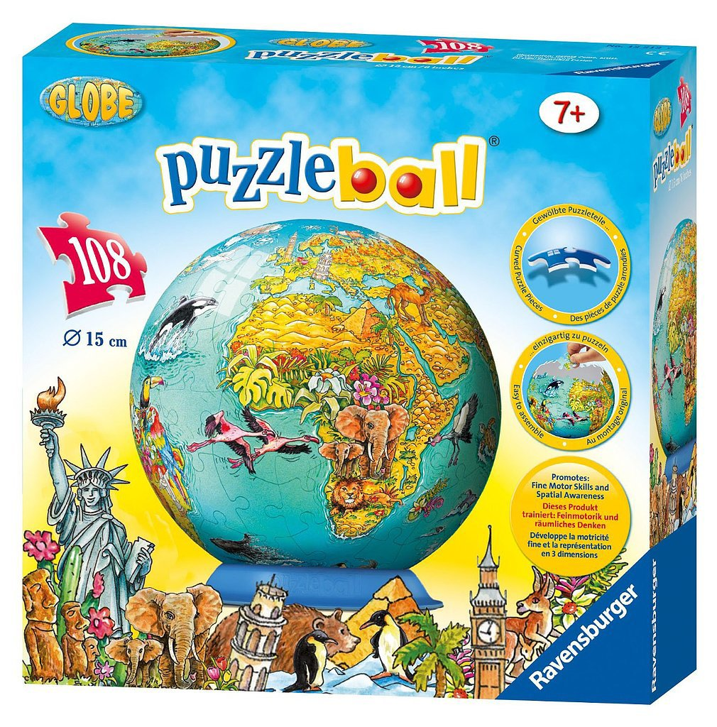 Ravensburger World Map Puzzleball