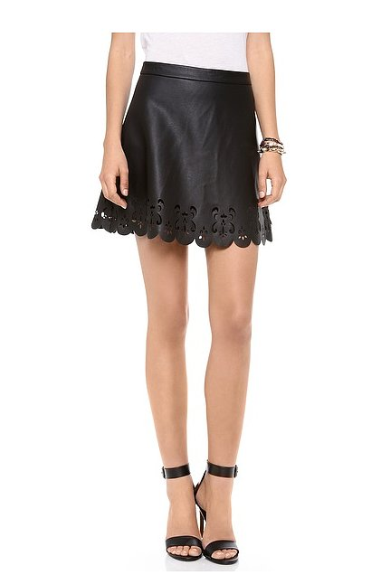 Club Monaco Leather Skirt