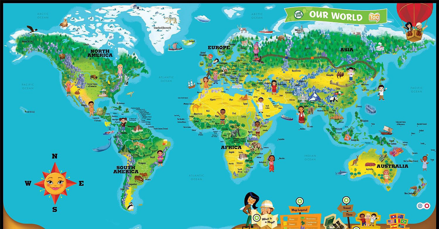 LeapReader Interactive World Map Take Your Tot Around the World No Passpo