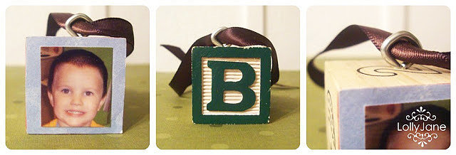 Alphabet Blocks Ornaments