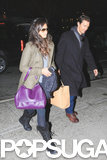 Matthew McConaughey and Camila Alves arrived at their hotel in NYC on Thursday.