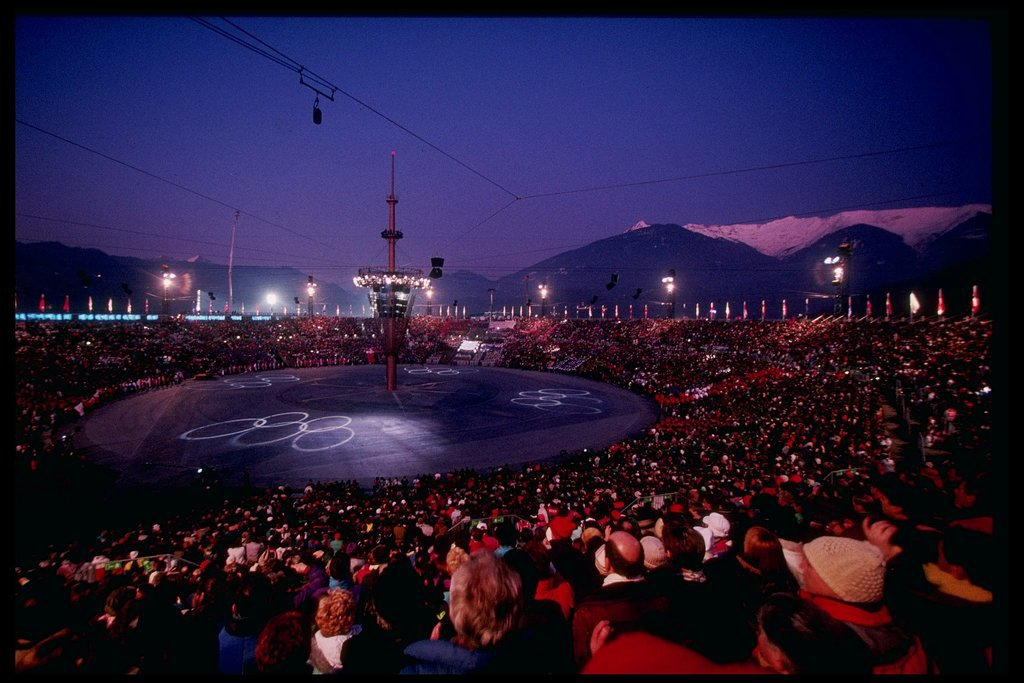 In 1992, there was a round outdoor arena in Albertville, France.