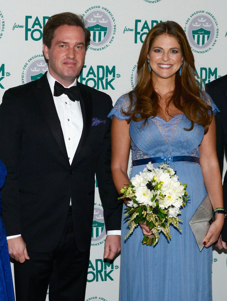 At a gala in New York, a pregnant Madeleine glowed.