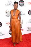 Lupita Nyong'o's Givenchy dress had a plunging neckline.