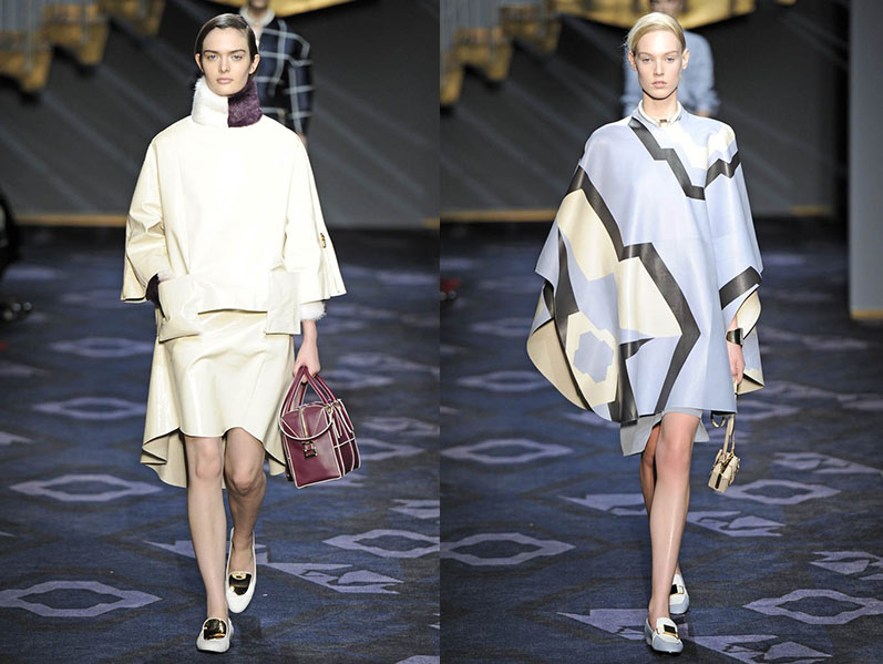 Tod's RTW FW/14 Milan Fashion Week Accessories Accessory Flat Shoes Purses Creative Director Alessandra Facchinetti's