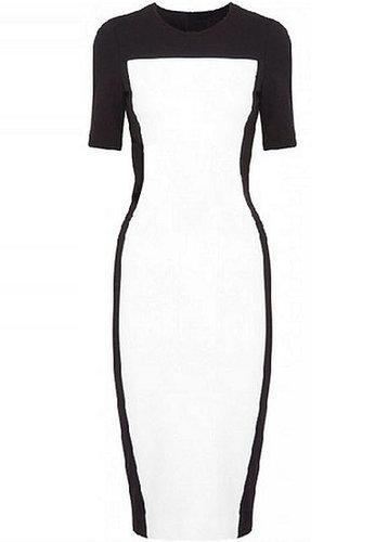 Round Neck High Waist Dress