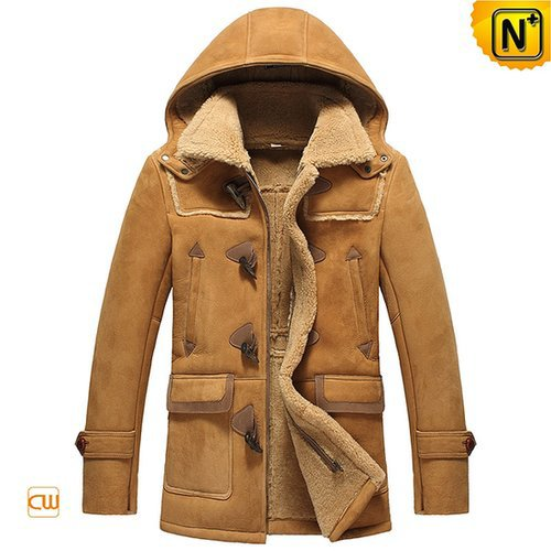 Sheepskin Shearling Jacket with Hood CW877093