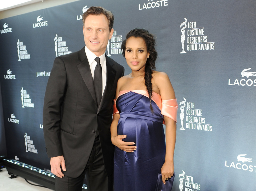 Kerry Washington and Tony Goldwyn posed for photos together.