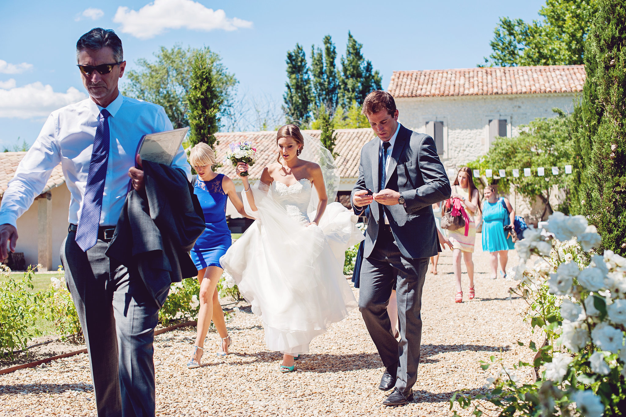 Running to Church For the Ceremony