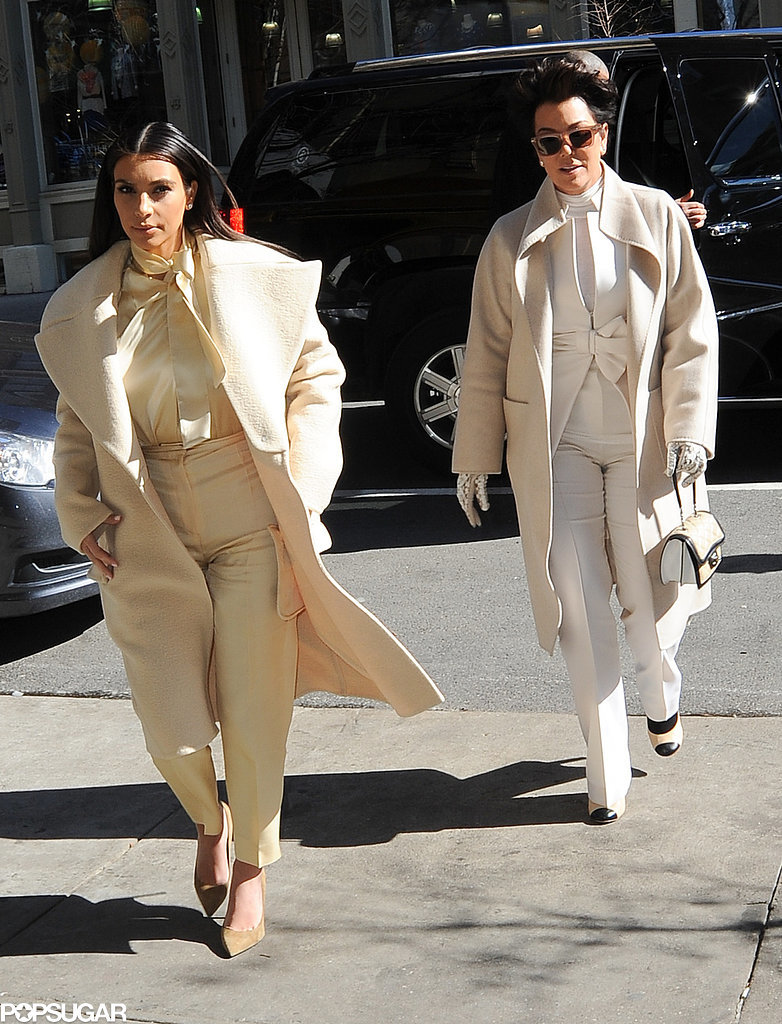 Kim and Kris went to lunch at Cipriani in NYC.
