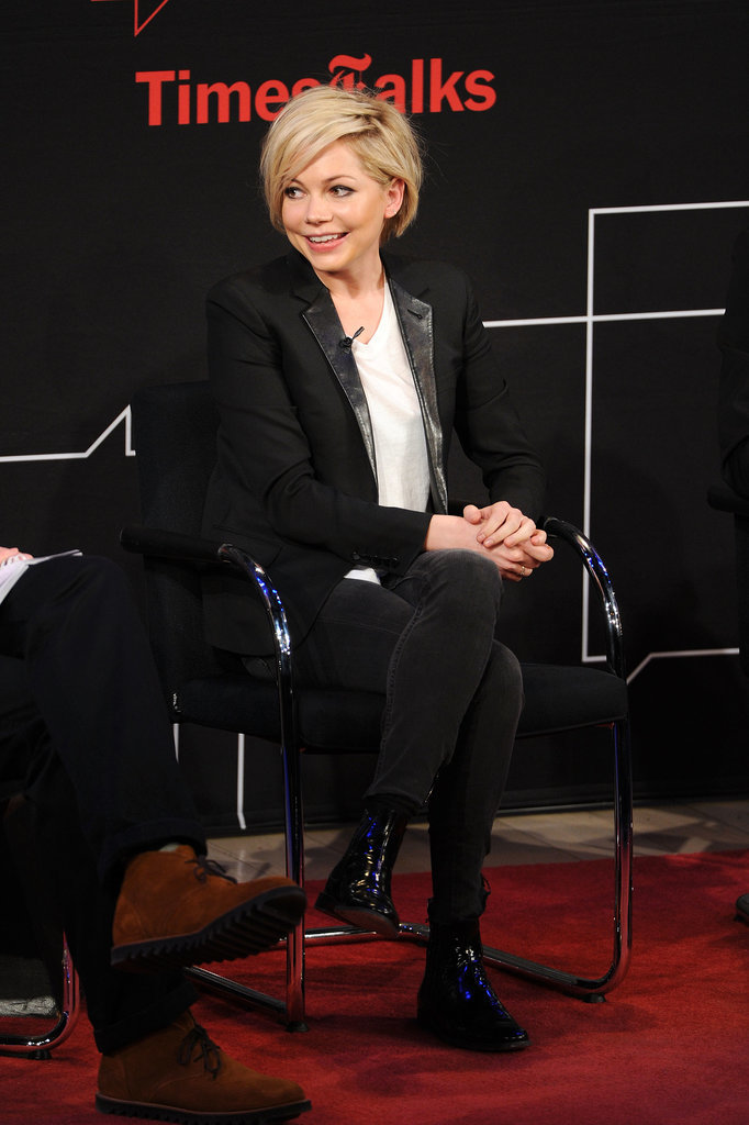 Michelle Williams attended a TimesTalks event in NYC on Monday.