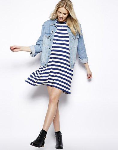 ASOS Striped Maternity T-Shirt Dress