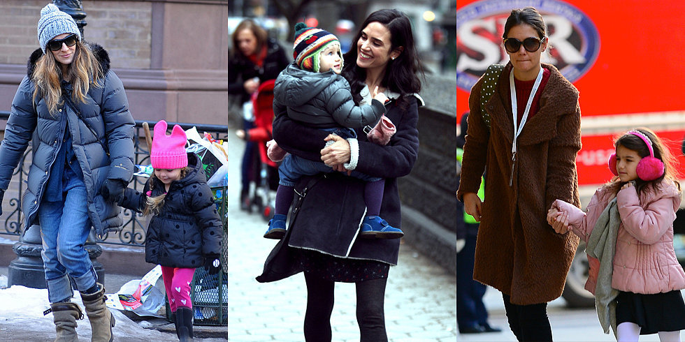 Celebrity Moms and Their Bundled-Up Kids