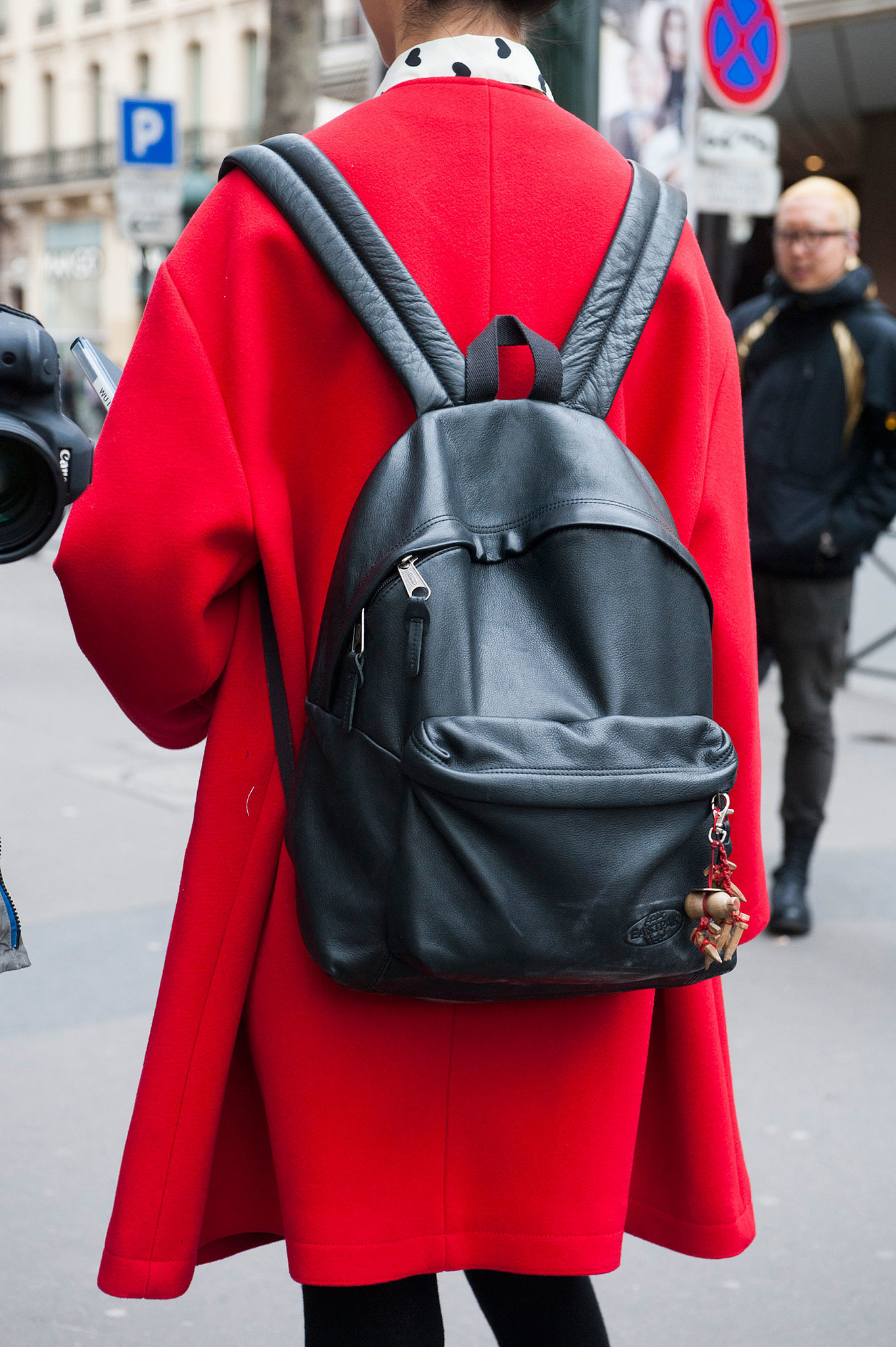 The backpack is still a fashion-crowd staple.