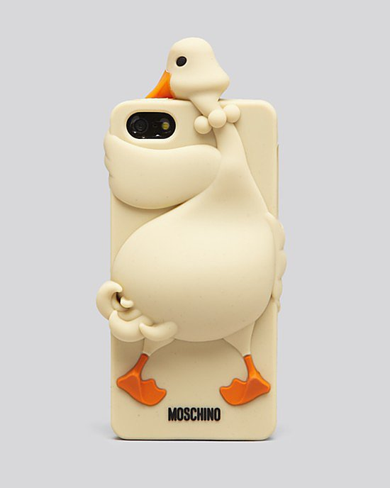 Oh, that? It's just an affectionate goose pretending to be a Moschino iPhone 5 case ($85).