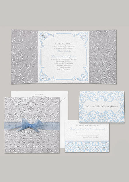 "Cinderella's stationery, ""Happily Ever After,"" fits the classic princess look perfectly — no fairy godmother required."