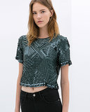 Zara Embroidered Top ($119)