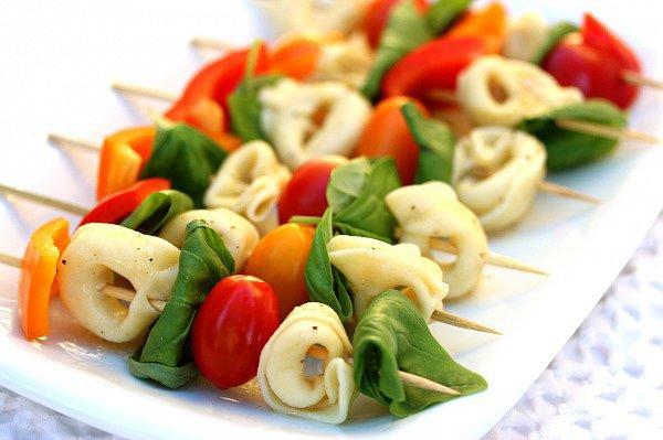 Pasta Salad Skewers
