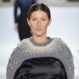 Gisele Bündchen Models For Balenciaga Paris Fashion Week