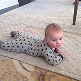 Little Joseph Kushner got in some morning tummy time with his mama, Ivanka Trump. Source: Instagram user ivankatrump