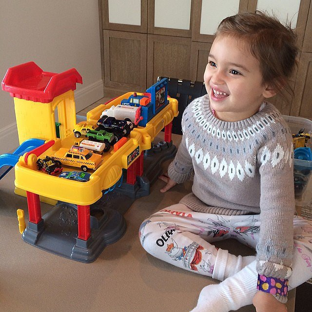 Arabella Kushner got in some playtime with her Fisher-Price garage (a favorite of ours, too!). Source: Instagram user ivankatrump