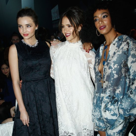 Miranda Kerr Jessica Alba at H&M Paris Fashion Week | Video